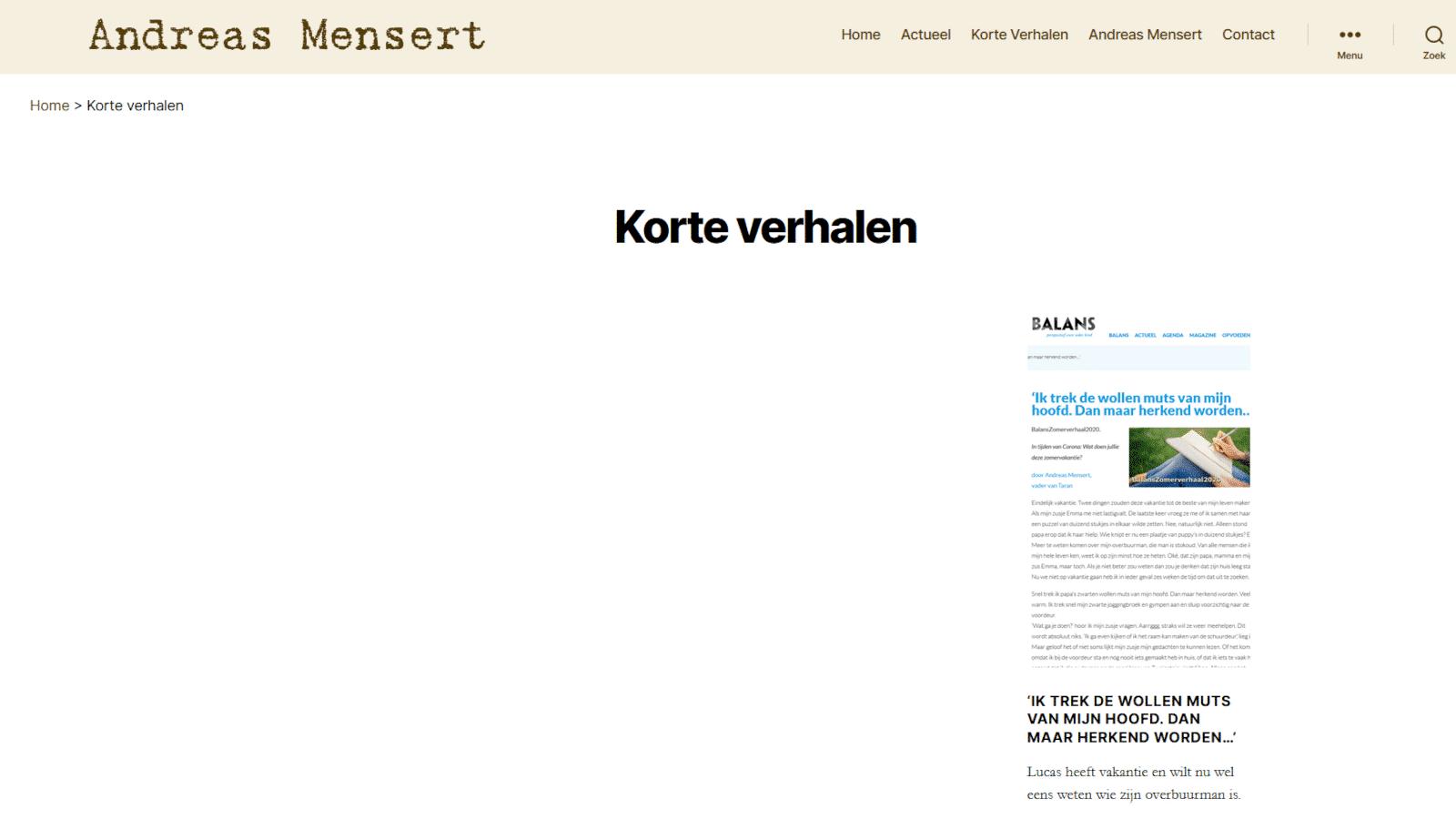 Layout website in 2020